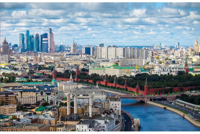 Модульная картина красивая Москва