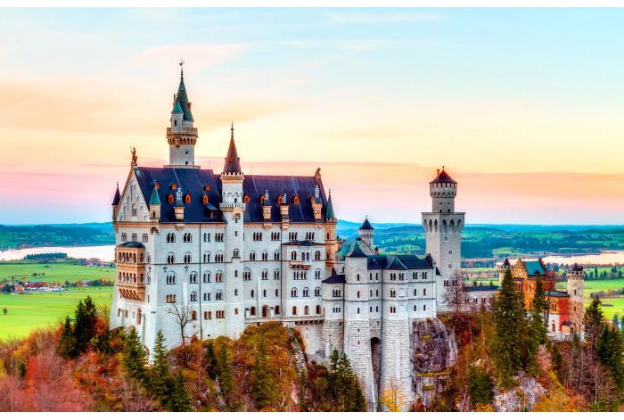 Модульная картина Замок в Германии