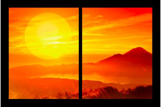 Модульная картина Огненный закат